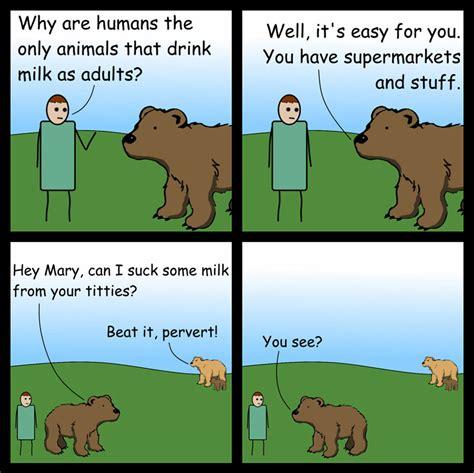 Big Milk Meme - milk and bears the big milk question comic bored panda