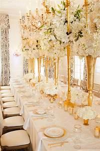 Glamorous Gold And Ivory Wedding Theme ElegantWeddingca