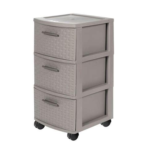 A rolling cart is a great solution to store and keep all your craft or hobby supplies at hand. MQ 3-Drawer Resin Rolling Cart in Espresso-391-TAU - The Home Depot