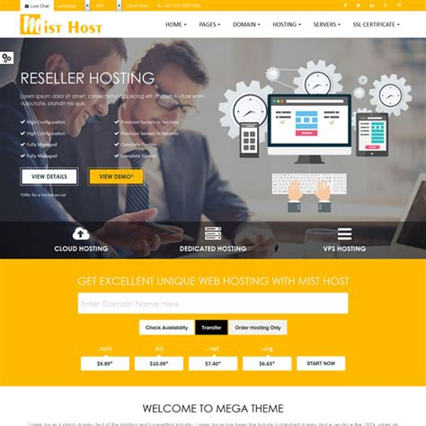 Themes Html Responsive Web Hosting Templates Themes