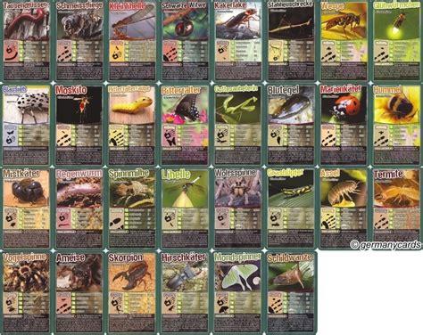 quartett kartenspiel winning moves  insekten und