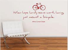 Wandtattoo Zitat Just mount a bicycle Wandtattoos