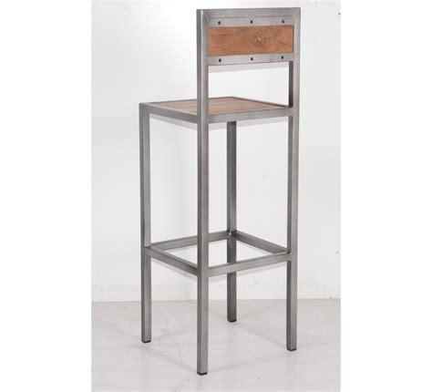 chaise en m tal tabouret de bar industriel en métal et bois 39 industry quot 6748