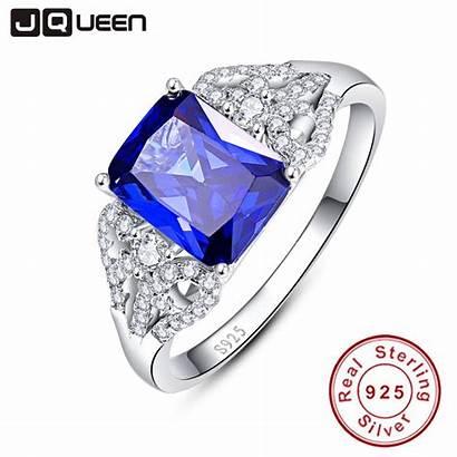 Tanzanite Stone Emerald Jqueen Ring Sterling Aliexpress