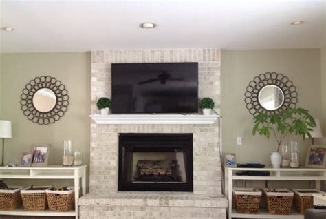 space to fireplace tv in family room