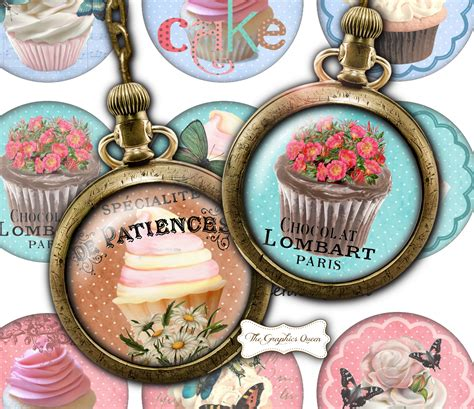 shabby chic cupcakes    images  digital