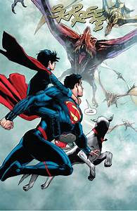 Superman And Superboy VS Pterodactyls Comicnewbies