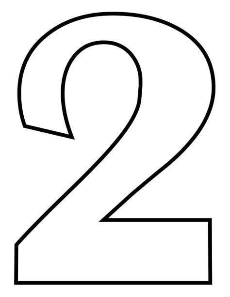 Coloring Number 2 by File Classic Alphabet Numbers 2 At Coloring Pages For