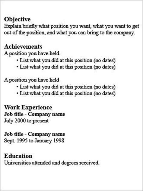 Desired Goals Resume by Resume Type Decoder Boston
