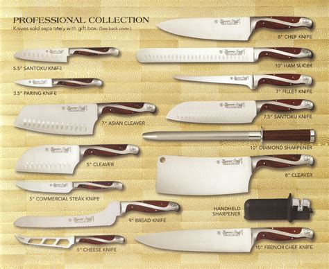 knives professional collection sets cutlery pc case cookware