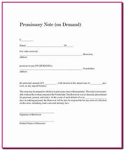 Promissory Note Format For Tuition Fee Form   Resume Examples
