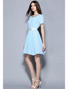 baby blue chiffon beading short wedding guest dress gemgrace With short wedding guest dresses