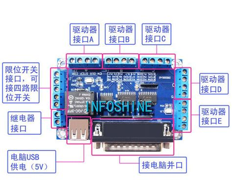 Cnc Axis Stepper Motor Driver Interface Breakout Board