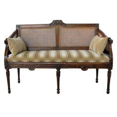 Recovering Settees by Back Settee With Schumacher Fabric Tn 99 I