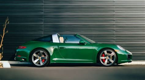 eye candy irish green porsche  targa