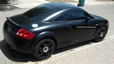 audi tt quattro base coupe flat black unique rare