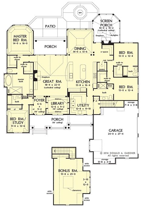 Craftsman House Plan On The Drawing Board #1409 Dream