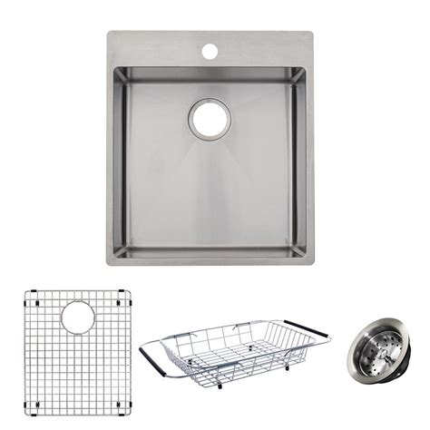 kitchen sink kit franke vector all in one dual mount stainless steel 19 5 2757