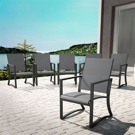 cosco outdoor furniture patio dining chairs 6 pack