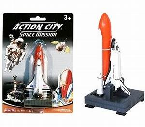 Comaco Toys - Die Cast Space Shuttle Play Set Action City