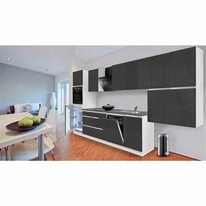 Günstige Küchenzeilen Ohne Geräte : respekta k chenzeile ohne e ger te 380 cm grau hochglanz wei kaufen bei obi ~ Bigdaddyawards.com Haus und Dekorationen