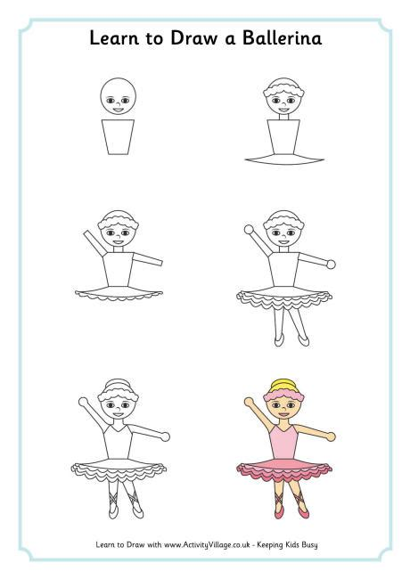 learn  draw  ballerina