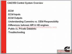 Cummins Epa 2013 Cm2350 Technician Training Update