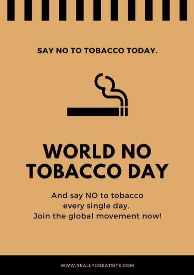 contoh poster bahaya rokok canva