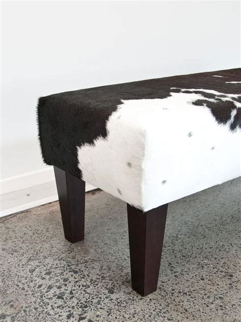 Cowhide Bench Ottoman by Cow Skin Bench Ottoman Gorgeous Creatures Bench Ottomans Nz