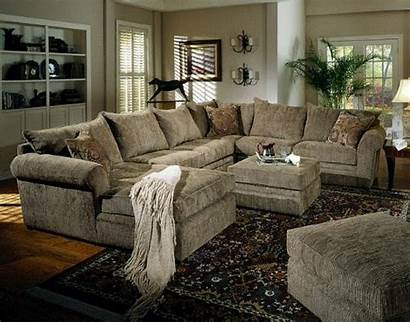 Sectional Sofa Chenille Couch Fabric Furniture Ottoman