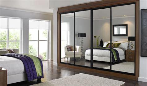 mirror sliding closet doors inspired condo bedroom