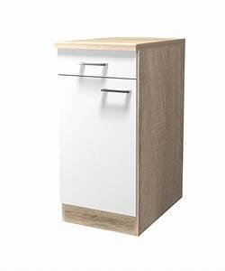 Küchen Unterschrank 40 Cm Breit : k chen unterschrank rom 1 t rig 40 cm breit wei k che rom ~ Indierocktalk.com Haus und Dekorationen