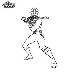 Red Power Rangers Samurai Coloring Pages