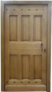 porte d39entree en chene style louis xiii 6 panneaux With porte d entrée alu avec meuble salle de bain 150 cm