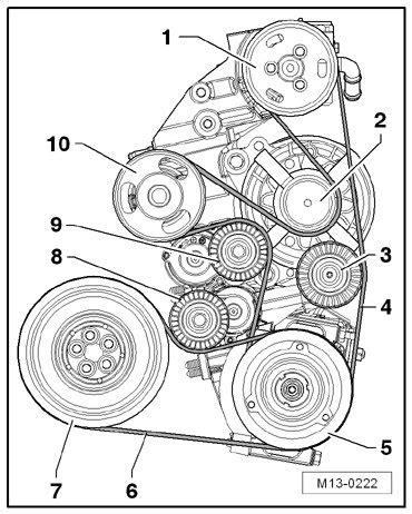 Vw Passat Alternator Diagram by 2006 Volkswagen Beetle 2 5l Serpentine Belt Diagram