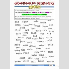 Grammar For Beginners Adjectives B Worksheet  Free Esl Printable Worksheets Made By Teachers