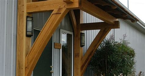 dramatically enhance  homes exterior  timber frame accents   trusses brackets
