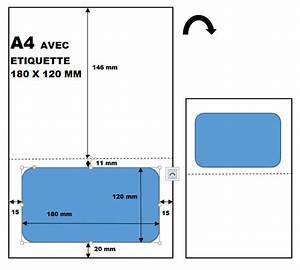 Boite Colis Poste Dimensions : feuille tiquette int gr e 180 x 120 colissimo ~ Nature-et-papiers.com Idées de Décoration