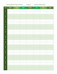 free work schedule templates for word and excel With 24 hour work schedule template excel