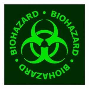 Biohazard Symbol Designs Green Biohazard Symbol Green Biohazard Symbol Poster