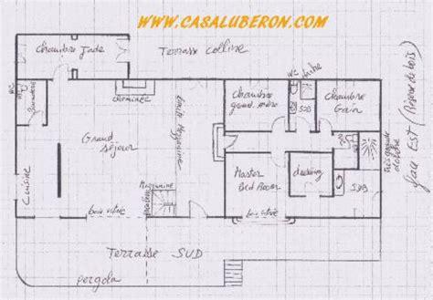 plan de maison 4 chambres avec 騁age photos location saisonnière de la casa luberon