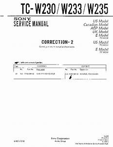 Sony Tc-w230  Tc-w233  Tc-w235 Service Manual