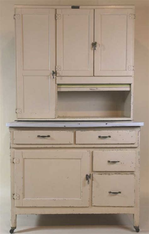 antique painted marsh hoosier kitchen cabinet