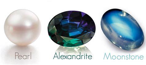 birthstone color for june june birthstone pearl alexandrite moonstone