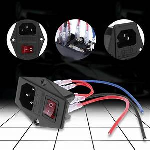 220v  110v Power Supply Triple Outlet Socket Switch With