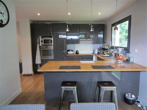 cuisine gris et bois charmant cuisine grise et bois et cuisine design sans