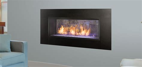 see through gas fireplace monessen artisan see thru vent free gas fireplace
