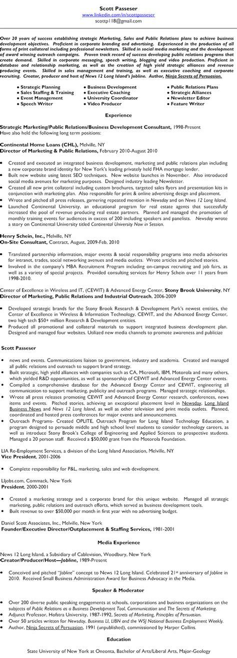 view my resume passeser business development team