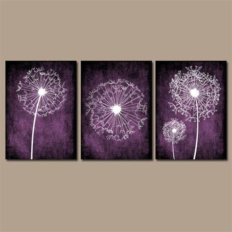 dandelion wall purple bedroom canvas or prints bathroom
