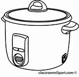 Pot Outline Rice Clipart Crock Cooker Cooking Cliparts Clip Background Transparent Presentations These sketch template